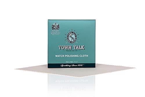 Town Talk Paño de limpieza para reloj – 18 cm x 18 cm, diseño de paquete nuevo