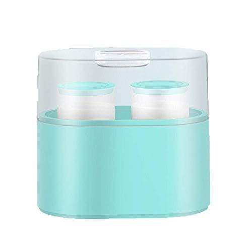 Máquina de yogurt desenchufada, máquina de yogurt de bricolaje para el hogar, dormitorio completamente automático, taza de cerámica de vidrio hecha a mano (color: copa dividida de cerámica negra) Zixi