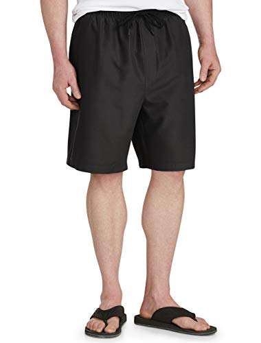 Amazon Essentials Men's Big & Tall Quick-Dry Swim Trunk fit by DXL, Black, 2XL
