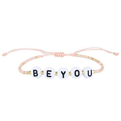 KELITCH Boho MIYUKI Beaded Friendship Bracelets Womens Strand Bracelets Adjustable New Summer Beach Rainbow Bracelets for You