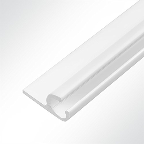 LYSEL® Kederschiene 15x30mm weiß 2m 45° Weiß Ø10mm für Keder 6-9mm