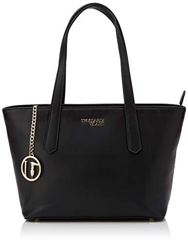 Trussardi Jeans Miss Carry Tote SM Saffiano EC, Borsa Donna, Nero (Black), 13x22x28 cm (W x H x L)