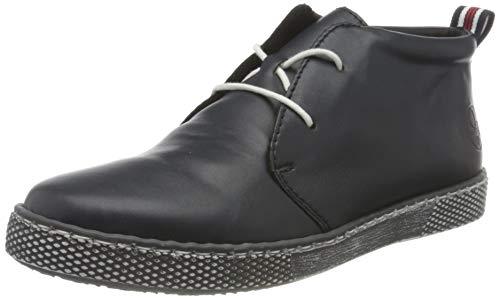 Rieker Damen L1210 Mode-Stiefel, blau, 42 EU