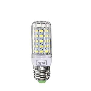 Grossartig E27 Dimmable 6W AC110V Ampoule LED de Haute qualité Blanc/Blanc Chaud 60 SMD 5730 de maïs Lampe (Taille : Warm White E27)