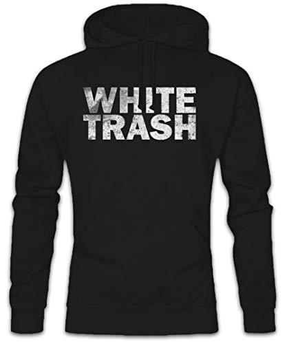 Urban Backwoods White Trash Hoodie Kapuzenpullover Sweatshirt Schwarz Größe XL