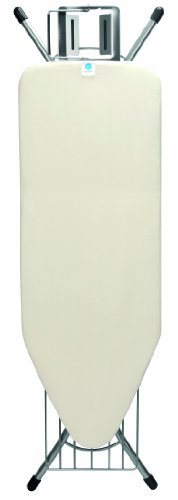 Brabantia Steam Rest Ironing Board with Linen Rack, C - Wide, Ecru