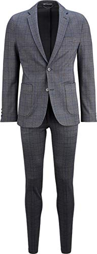 Drykorn Herren Anzug in Blau kariert 52 / XL