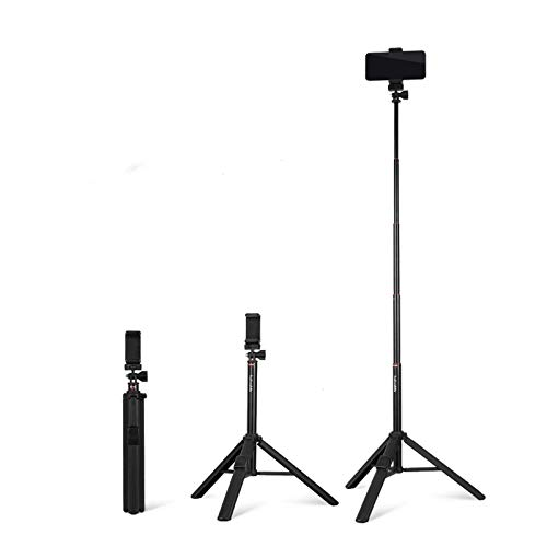 JIE. Teléfono móvil Trípode y Selfie Stick Tripod Professional Integrado con Control Remoto Bluetooth y Soporte para teléfonos móviles, Compatible con Todos los teléfonos móviles/cámaras