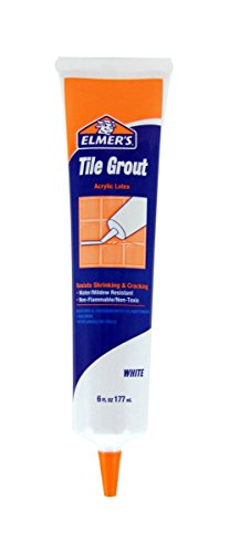 Elmer's E873 2 Pack 6 oz. Tile Grout Plastic Tube, White