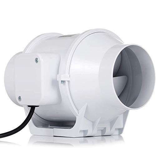 Ventilador de escape, HG Power 100mm Extractor Ventilador de Aire en Línea Super Ligero y Silencioso - 170m³/h