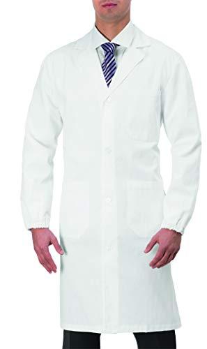 GIBLOR'S Art.10M1315 Camice Ethan da Laboratorio O Medico da Uomo Bianco (L)