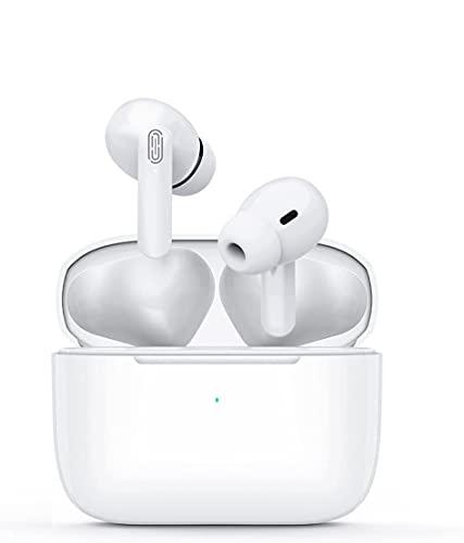 Auriculares Bluetooth, Auriculares Inalámbricos Deportivos con Microfono, Earpods Pro Estéreo con 40Hrs de Reproducción, Control Táctil, IPX6 Impermeable, Compatibles con iPhone/Android