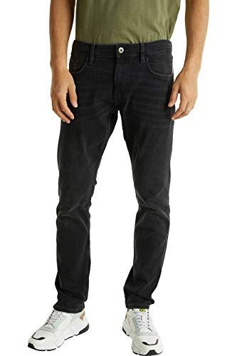 edc by ESPRIT Herren 020CC2B304 Jeans, Schwarz (Schwarz 911), 32/32