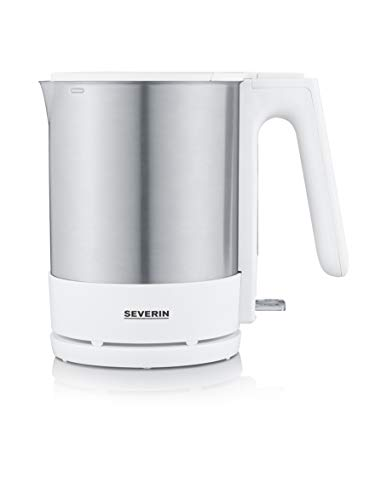 Severin WK 3419 - Hervidor de agua, 2200 W, 1.7 L, color acero inoxidable y blanco