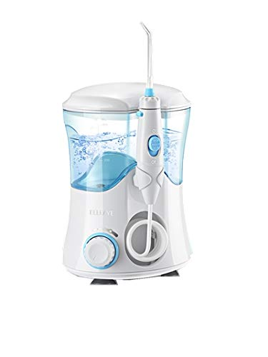 Water Flosser, ELLESYE Oral Irrigator 600ml with 9 Multifunctional Jet Tips, 3 Min Timer, Dental Water Flosser for Braces Care & Teeth Cleaning, Quiet Design for Adults & Kid Use White