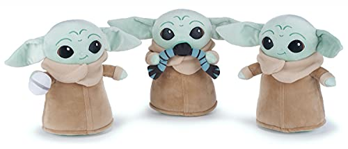 1 x 12' Mandalorian Soft Toy, Baby Yoda Gift Plush (30cm in size), 3 Assorted Designs With 1 Sent At Random. Present, Stocking Filler, Party Game Prize.