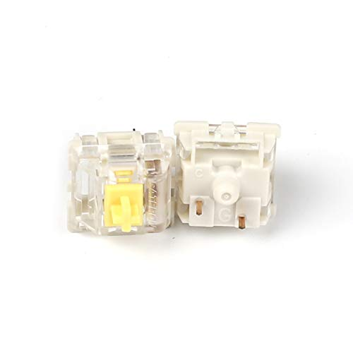Gateron Switches Mx Keyboard Switch 3pin SMD LED Underglow Led Compatible for MX Mechanical Keyboards Transparent Cover White Base (SMD Yellow 68 PCS)
