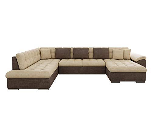 Mirjan24 Eckcouch Ecksofa Niko! Design Sofa Couch! mit Schlaffunktion! U-Sofa Große Farbauswahl! Wohnlandschaft! (Ecksofa Rechts, Cairo 35 + Cairo 22)