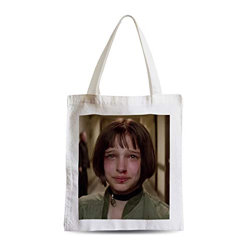 Big Canvas Tot Shopper Bag Nathalie Portman Young Crying Leon Hitman Cinema