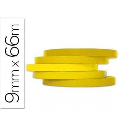 Q Connect Klebeband 66m x 9mm gelb für Beutelverschlüsse (16Stück)