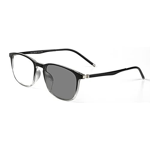 EnzoDate Gafas de Lectura progresiva Anti - Blue Ray Ordenador Lector Multi Focus No Nerd Retro UV400 Gafas de Sol línea progresiva varifocal