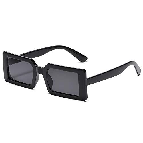 Gafas de Sol Gafas De Sol Cuadradas Pequeñas para Mujer Y Hombre, Diseño Vintage De Moda, Lentes De Gradiente Verde, Gafas De Sol para Mujer, Gafas Uv400, Negro
