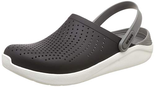 Crocs Men's and Women's LiteRide Clog, Casual Athletic Shoe with Extraordinary Comfort Technology, Black/Smoke, 12 US Women / 10 US Men
