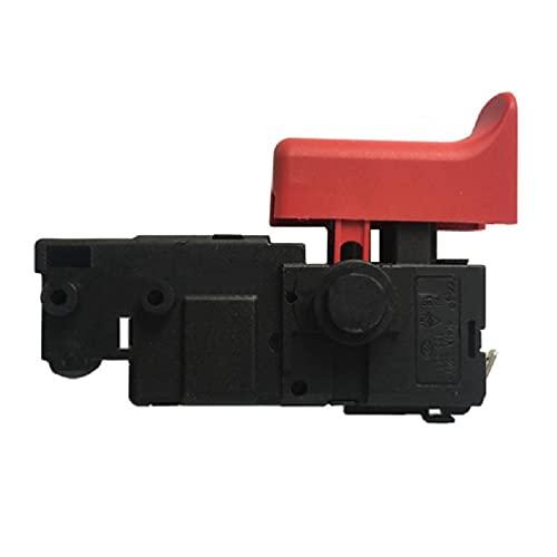 Abcidubxc Regulador electrónico de velocidad para taladro de percusión, compatible con Bosch GBH2-20/26, interruptor de disparador para interruptor de martillo eléctrico ligero, color negro