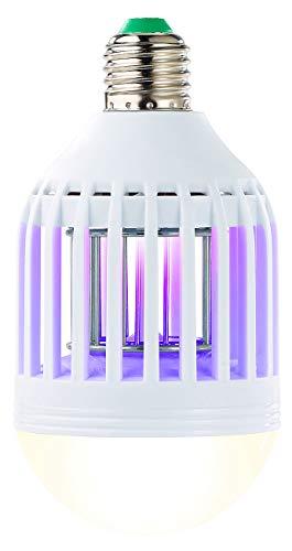 Exbuster Mückenkiller: 2in1-UV-Insektenkiller und LED-Lampe, E27, 9 W, 550 Lumen, neutralweiß (UV Insektenvernichter)