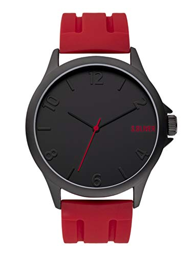s.Oliver Herren Analog Quarz Uhr mit Silikon Armband SO-3906-PQ