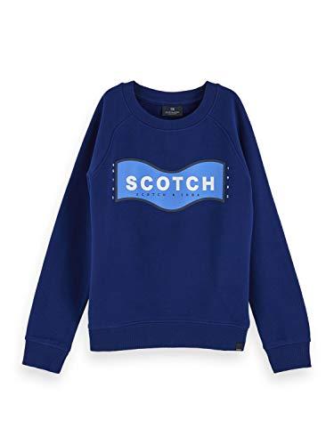 Scotch & Soda Shrunk Boys Crew Neck Sweat Sweatshirt, Yinmin Blue 2139, 8