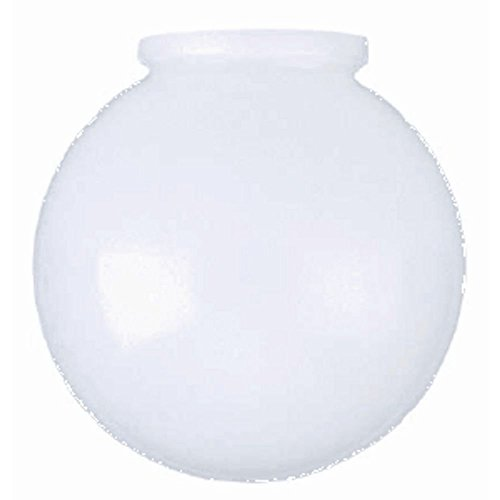 8-Inch White Glass Globe - 4-Inch Fitter Opening