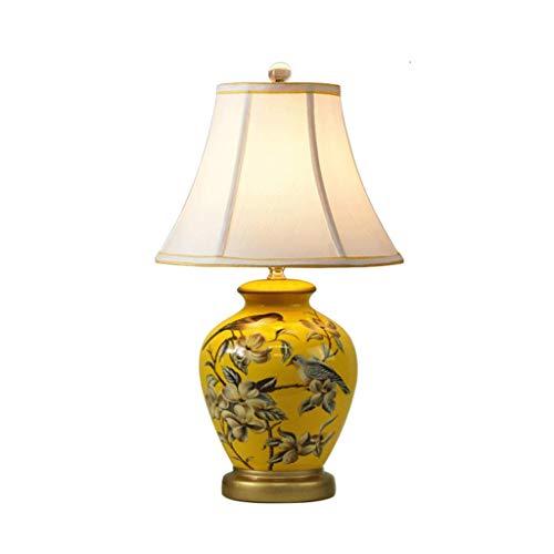 CCLL - Lámpara de mesa de cerámica creativa simple y moderna lámpara de mesa de salón reading lamp