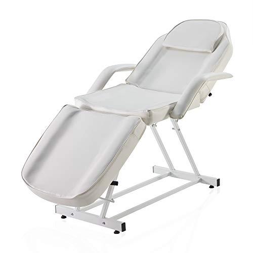 BELLAVIE Massage Facial Bed Adjustable Table Chair Beauty Spa Salon Tattoo Beauty, Cream