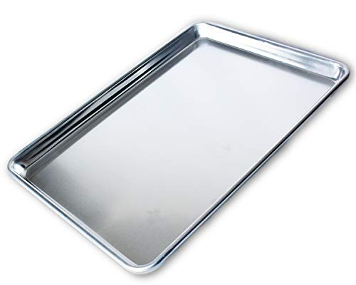 Commercial Quality Half Sheet Baking Pan by Saffron & Sage Home Living - This Aluminum Tray is 18x13 , Rust & Warp Resistant, Heavy Duty & of Thick Gauge - Delivers Evenly Baked Cookies