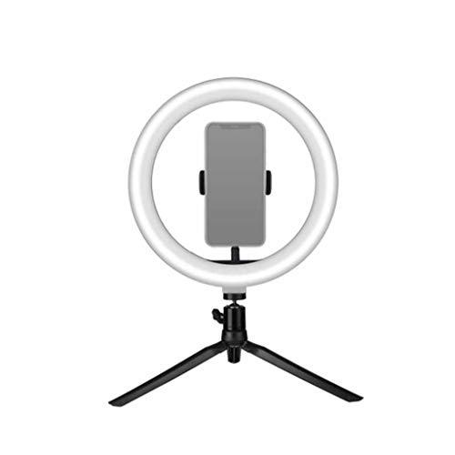 QPALZM Aro luz LED, Anillo Luz Trípode,29 Modos Luz + 10 Niveles Brillo Regulables Wireless Control Remoto,para Movil TIK Tok,Maquillaje, Selfie,Streaming,Youtube