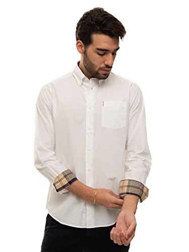 Barbour Casual Hemd Weiß Baumwolle Herren, MSH4716-WH11, Weiß, MSH4716-WH11 XL