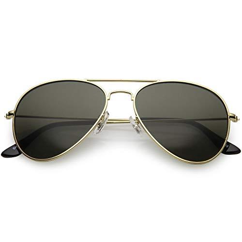 occhiali da sole donna a goccia KISS Occhiali da sole Aviatore mod. AIR FORCE - uomo donna A GOCCIA classici vintage FASHION - GOLD/Nero