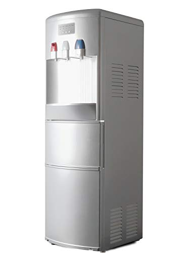 ADT Hot & Cold Water Dispensers with Ice Maker (Silver)