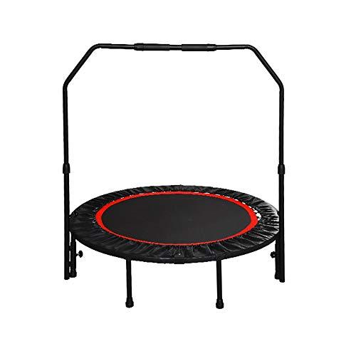 HANSHAN Gartentrampoline Trampolin, Rebounder Trampolin Übung Fitness-Trampolin Mit Handlauf for Erwachsene Kinder 47 × 30 Zoll (Size : 47×30inch)