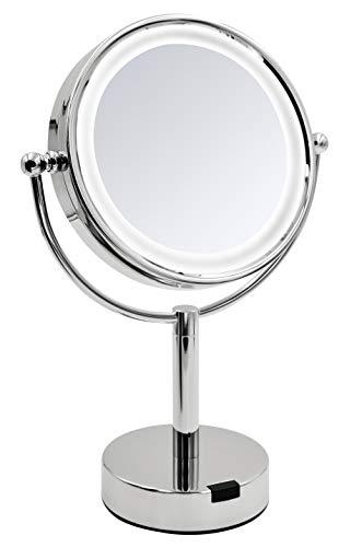 RIDDER Kosmetik-Standspiegel mit LED Aurora Chrom
