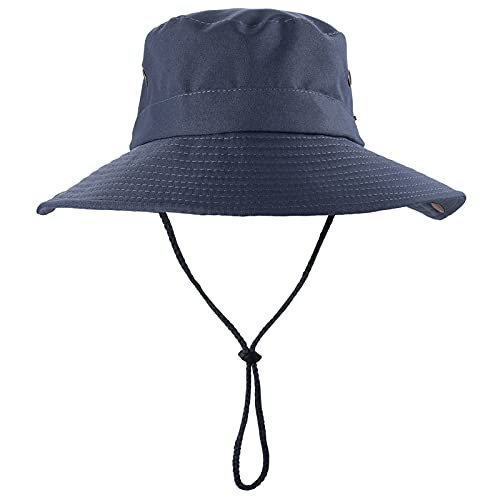 Obling Boonie Hats for Men Women Sun Hat UPF 50+ Wide Brim Breathable Bucket Hat Outdoor Hunting Hat Adjustable Fishing Hats (Grey)