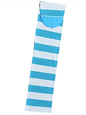 Stretch SUP Board Sock Cover for Paddle Boards - Size 8'2 to 12'6 [Choose Color] (Blue White Stripe, 8'2 Fish)