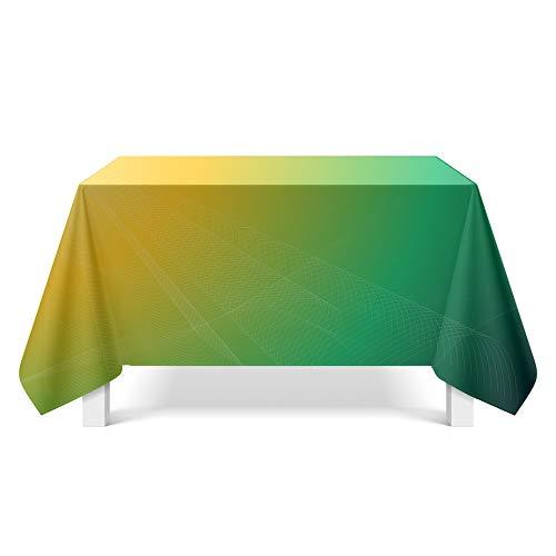 DREAMING-Aurora Muster Kunst Tischdecke Home Tischdecke Tv-Schrank Couchtisch Tuch Runde Tisch Tischset 140cm * 180cm