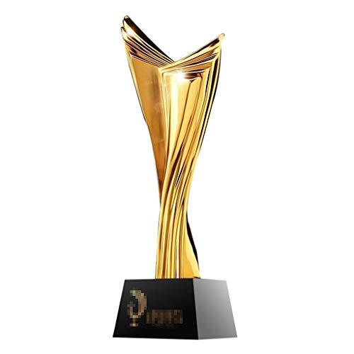 Trofeos De Cristal De Alta Gama Arte Alas Resina Decoraciones De Resina para El Hogar Estatuilla De Oro (Puede Grabar Texto En La Base) (Color : Gold, Size : 8 * 8 * 30cm)