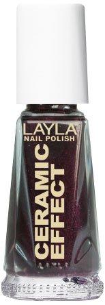 Layla Cosmetics 1243R23-030 Ceramic Effect Nagellak - deep bordeaux, 1 stuks (1 x 0,01 l)