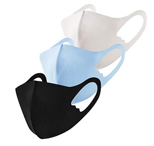 マスク 洗える 子供用 接触冷感 快適 UVカット 繰り返し使える 夏マスク 抗菌 消臭 防汚 暑い季節を快適に 3枚セット (A)