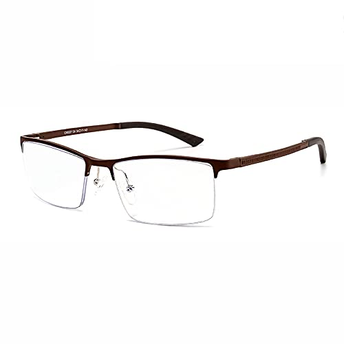 CXNEYE Gafas De Sol Más Nuevas Gafas De Lectura Fotocromáticas Progresivas Multifocales Hombres Mujeres Presbicia Gafas Medio Marco Marco De Metal De Titanio Puro