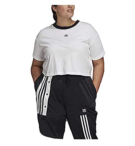 adidas Originals womens Crop Top White/Black 4X