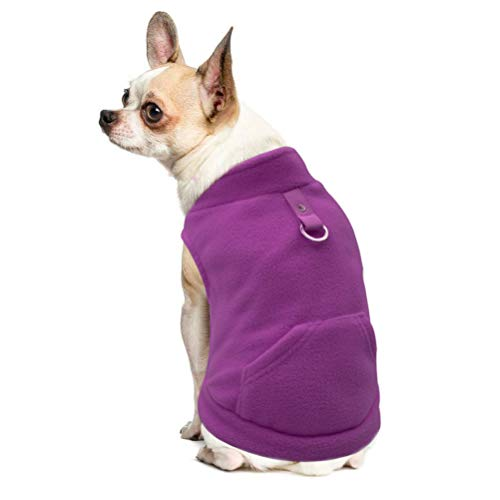 EXPAWLORER Fleece Autumn Winter Cold Weather Dog Vest Harness Clothes with Pocket...